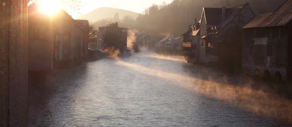 la Loue merveilleuse les matins d'hiver