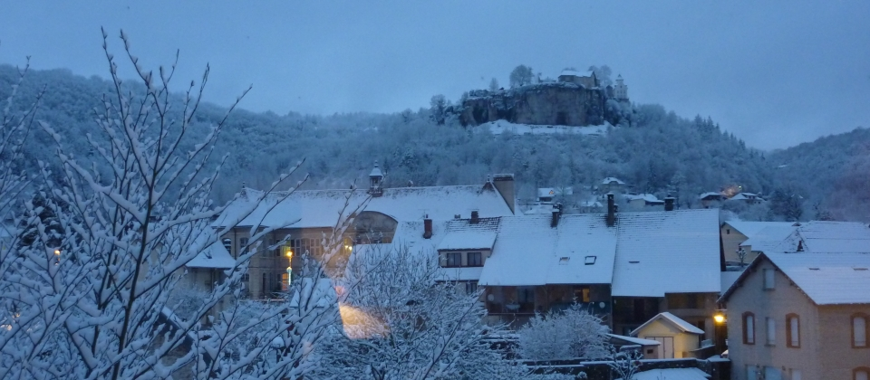 vue de la terrasse à Noel